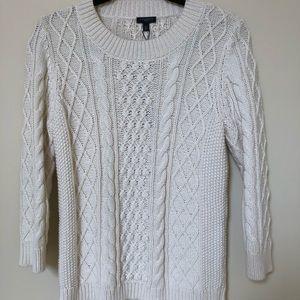 NWT Talbots cream cotton sweater petite medium